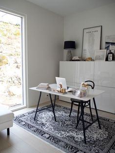 Home Office Design, Home Office Decor, House Design, Workspace Inspiration, Interior Inspiration, Deco Studio, Urban Outfitters Home, White Home Decor, Minimalist Home