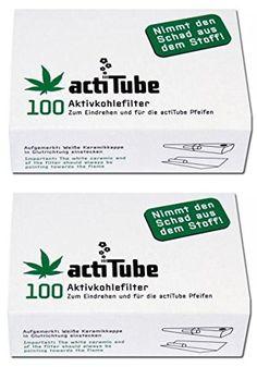 2 x 100 Stk Packung actiTube Aktivkohlefilter
