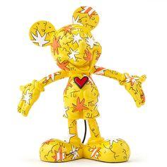 Disney Britto Mickey Wrapped In Stars Figurine (Yellow)