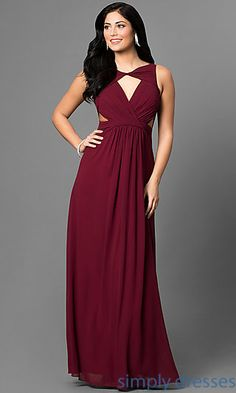 1d32d040a76 Keyhole Front Long Formal Dress. Plus Size Prom DressesHomecoming DressesA  Line Cocktail DressBurgundy DressProm GirlPretty ...
