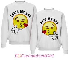 Emoji Bae Matching Couple Shirts