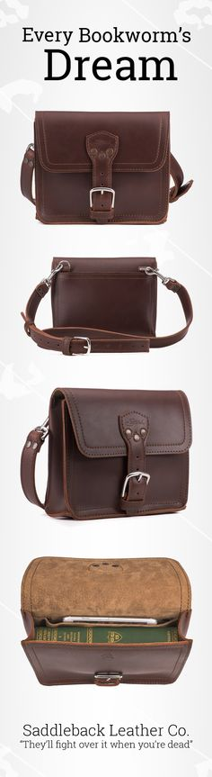 The new Book Bag in Chestnut | Full Grain Leather | 100 Year Warranty | $139.00