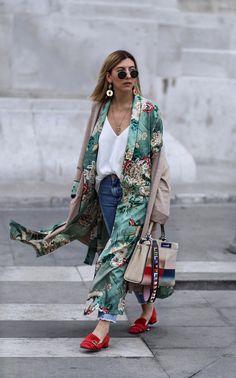 {Kimono and denim.}