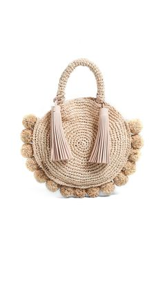 Loeffler Randall Straw Circle Tote | 15% off 1st app order use code: 15FORYOU