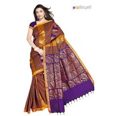Dark Blue Designer Zari Saree PS333 - Online Shopping for Cotton Sarees by Platinum