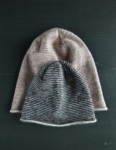 Fan of the striped look? Then you want the free knit hat pattern, Tiny Stripes Hat. This easy colorwork pattern uses fingering yarn and tiny needles. Knitting Patterns Free, Knit Patterns, Free Knitting, Baby Knitting, Free Pattern, Knit Crochet, Crochet Hats, Fingering Yarn, Purl Soho