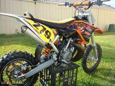 ktm custom 65 sx chrome frame talon wheels rhk footpegs rr racing