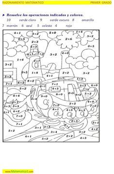 Math Subtraction Worksheets, Math Quizzes, Math Coloring Worksheets, Kindergarten Math Worksheets, Math Games, Spring Coloring Pages, Teacher Cards, Color By Numbers, Kids Learning Activities