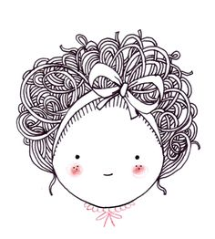 petite tête n°1 Little Girl Illustrations, Illustration Girl, Cute Comics, Line Drawing, Painting & Drawing, Cute Drawings, Doodle Art, Doodles, Watercolor