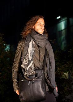 #m0851 | Jacket, Scarves, Leather Bag | Fashionshow | Festival mode et design de Montréal, summer 2012 www.m0851.com/home/