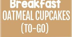 Breakfast Oatmeal Cupcakes – Cook just once, and you get a delicious breakfast for the entire month! These breakfast oatmeal cupcakes are o. Breakfast Table Setting, Breakfast Bar Kitchen, Sausage Breakfast, Best Breakfast, Quick Banana Bread, Egg Tortilla, Power Muffins, Oatmeal Cupcakes, Sausages In The Oven