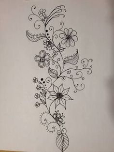Zen doodle, sketches of flowers, draw flowers, flower drawings, art drawing Doodle Designs, Doodle Patterns, Zentangle Patterns, Embroidery Patterns, Mandala Art, Floral Doodle, Flower Doodles, Doodle Flowers, Doodles Zentangles