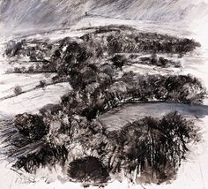 Recently accepted in the Pastel Society It's the north, Winter, black and white. by Robert Dutton - Painting & Drawing, Drawings, Artist, Outdoor, Inspiration, Google Search, Charcoal, Landscapes, Paintings