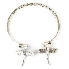 Karen hill tribe 99% silver dragonfly charm bangle cuff by 81stgeneration 81stgeneration. $65.59. .