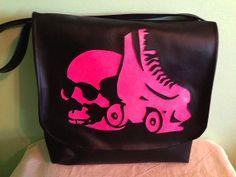 Deadamore Handbag Roller Derby Handmade Vinyl vegan Skull Horror