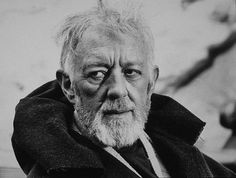 Alec Guinness - the voice, the acting ability, the twinkle, the huge part in Star Wars - this guy had it all Star Wars Quiz, Star Wars Film, Famous Catholics, Alec Guinness, Star Wars Watch, Episode Iv, Best Supporting Actor, Mark Hamill, A New Hope