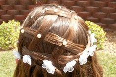 Princess hair for little girls