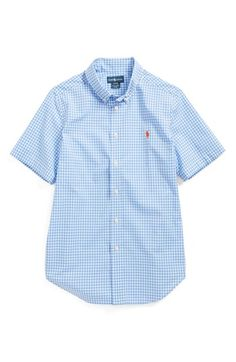 Ralph Lauren Gingham Shirt (Big Boys) available at #Nordstrom