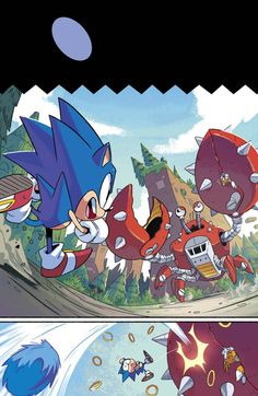 Sonic the Hedgehog - Beautiful Sonic comic art by Tyson Hesse for...