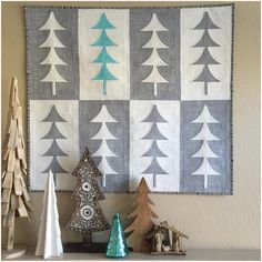 Mini Trees quilt at Sew Kind Of Wonderful
