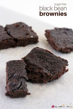 Sugar-free Black Bean Brownies, a delicious and easy brownie recipe from the kids' kitchen. A healthy dessert you can feel good about serving to your family