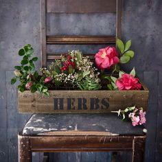 Vintage Wood Grid Plant Box - Stampington & Company