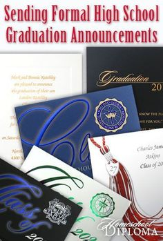 What do you do if your teenager prefers an intimate family party for graduation and you don't wish to send out a hundred invitations? After all, the last thing your graduate wants is for the intimate graduation to become the party of the century. The answer is easy, you mail a formal announcement instead of an invitation.