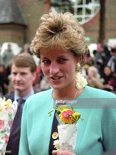 London January 21, 1993 Princess Diana at Asian Centre, Walthamstow. at the Various in Various, United Kingdom.