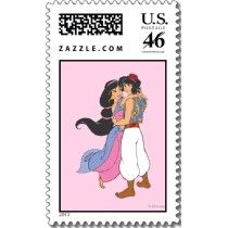 Aladdin and Jasmine Hugging 1 stamps by disney