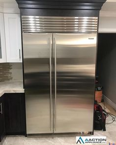 SubZero Fridge and freezer combo installed in this new kitchen - posted by Aaction Appliance https://www.instagram.com/aactionappliance - See more Luxury Real Estate photos from Local Realtors at https://LocalRealtors.com/stream #LuxuryFridges