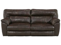 Check out the deal on Nolan Godiva Leather-Look Reclining Sofa at Rothman Furniture