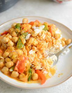 Curry tailandés de garbanzos con arroz de coco | 31 cenas fáciles sin carne para preparar en 2015