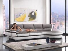 Divani Casa Rapture - Modern Eco-Leather Sectional Sofa VGKNK8456