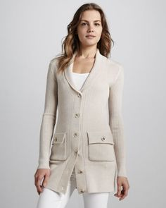 Tania Long Knit Cardigan, Poundcake by Tory Burch at Neiman Marcus.    http://www.neimanmarcus.com/p/Tory-Burch-Tania-Long-Knit-Cardigan-Poundcake/prod154420469/?eVar4=You%20May%20Also%20Like%20RR