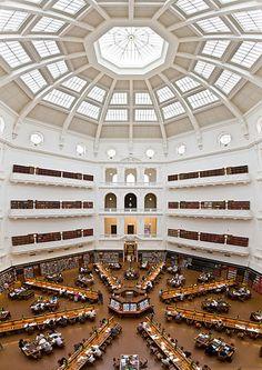 Biblioteca Estatal de Victoria (The State Library of Victoria), en Melbourne, Australia (1859).