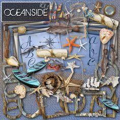 Oceanside - Digital Scrapbooking Kit