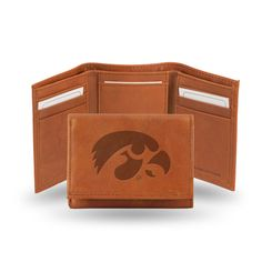 Iowa Hawkeyes Leather Embossed Trifold Wallet