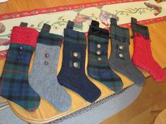 Upcycled Christmas Stocking SPECIAL ORDER by RedHeadPiper on Etsy