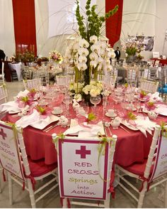 Red Cross gala table 2013