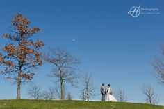 The trees on this hill are showing the border between past winter and spring. Wedding of Amanda and Tony. Photography: Doru Halip