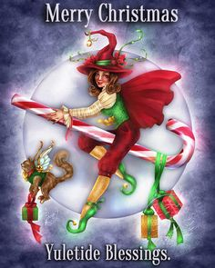 To anyone having a Christmas dinner and seeing family and friends today, I wish you a magical day. Peace, joy and love. Have a Pagan Christmas.