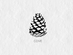 A Cone by Sandro Laliashvili Pinecone Tattoo, Pine Tattoo, Xmas Drawing, Pine Cone Drawing, Kiefer Tattoo, Wilderness Tattoo, Tattoo Coloring Book, Mushroom Crafts, Stencil Templates