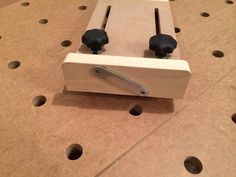 Photo 2: Custom stop for repetitive cuts on the off-cut side of the MFT.