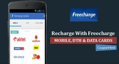 Latest Freecharge discount coupons code, promo code, and Offers for online recharge. Get Freecharge recharge coupons for Molile, DTH & Data cards at CouponHind