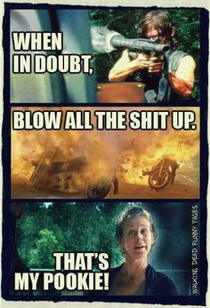Carol Peletier - The Walking Dead. I don't like them as a couple, but this is funny.