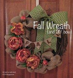 Life (and so much more): Not Too Late For Fall Wreath