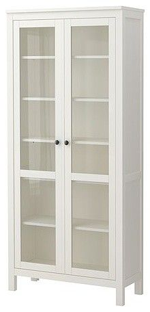 Glass cabinet for fabric storage