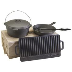 I pinned this 5 Piece Cast Iron Kit from the Great Outdoors event at Joss and Main!