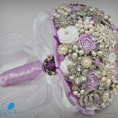 """Julia"" Lilac bouquet by Blue Petyl Lilac Bouquet, Button Bouquet, Bridal Brooch Bouquet, Diy Bouquet, Bride Bouquets, Flower Bouquets, Purple Wedding, Trendy Wedding, Wedding Colors"