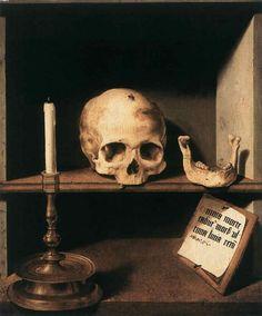 skull vanitas art, even has the blow fly!